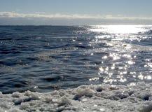 Sun on Icy Shore 01 Stock Photo