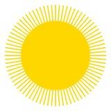 Sun-Ikone mit Zacken als Vektor auf einem lokalisierten Hintergrund Lizenzfreie Stockfotos