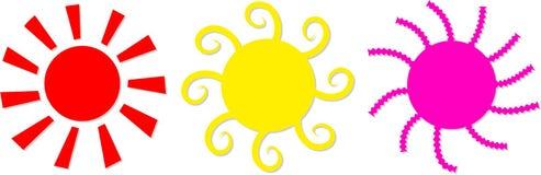 Sun-Ikonen stock abbildung