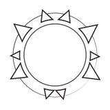 Sun-Ikonenillustration Lizenzfreie Stockfotos