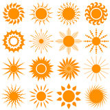 Sun-Ikonensammlung - Vektorillustration Stockbild
