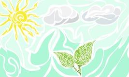 Sun Il cielo Nubi Foglia Immagini Stock