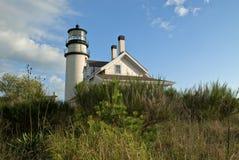 Sun Illuminates Highland Lighthouse on Cape Cod Royalty Free Stock Images