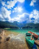 Black Lake in the National Park Durmitor. stock photos