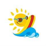 Sun-Illustration Stockfotografie