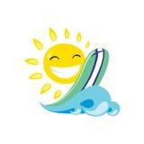 Sun-Illustration Lizenzfreie Stockbilder