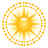 Sun illustration Royalty Free Stock Photo