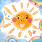 Sun illustration Royalty Free Stock Images