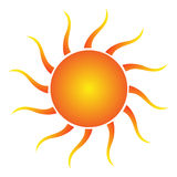 Sun. An illustration of Sun company logo / clipart isolate on white background vector illustration
