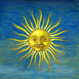 Sun. Illustration of Sun with rays Royalty Free Stock Images