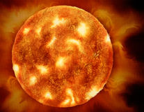 The Sun, Illustration of a star Royalty Free Stock Photography
