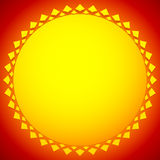 Sun illustration, sun clip-art for nature, sunlight, summer conc Royalty Free Stock Images