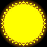 Sun illustration, sun clip-art for nature, sunlight, summer conc Royalty Free Stock Photo