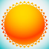 Sun illustration, sun clip-art for nature, sunlight, summer conc Stock Photography