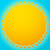 Sun illustration, sun clip-art for nature, sunlight, summer conc Stock Images