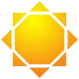 Sun illustration, sun clip-art for nature, sunlight, summer conc Stock Photos