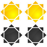 Sun illustration, sun clip-art for nature, sunlight, summer conc Stock Photo