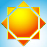 Sun illustration, sun clip-art for nature, sunlight, summer conc Stock Image