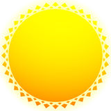 Sun illustration, sun clip-art for nature, sunlight, summer conc Royalty Free Stock Photos