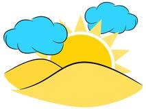 Sun illustration Stock Photo