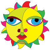 Sun illustration Royalty Free Stock Photography