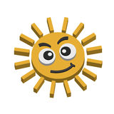 Sun. Illustrations of Summer sun on white background Royalty Free Stock Image
