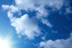 Sun im Himmel Lizenzfreies Stockfoto