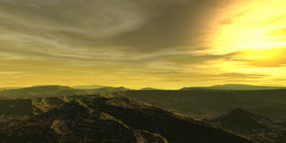 Sun im Himmel Lizenzfreies Stockbild