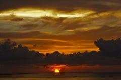 Sun im Ozean Stockfotografie