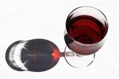 Sun im Weinglas Stockbild
