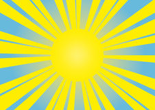Sun - imagem do vetor Imagens de Stock Royalty Free