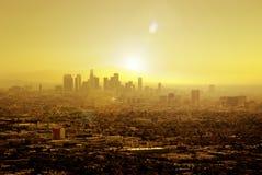 Sun a imbibé Los Angeles Photos stock