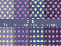 Sun Insieme dei reticoli senza giunte Il modello per la carta da parati Fotografia Stock Libera da Diritti