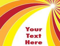 Sun irradia a apresentação Imagem de Stock