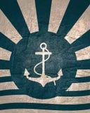 Sun irradia el contexto con el icono del ancla foto de archivo libre de regalías