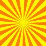 Sun irradia a ilustração Imagem de Stock Royalty Free