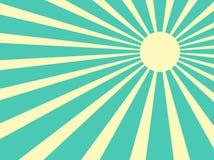 Sun irradia vector retro Foto de archivo