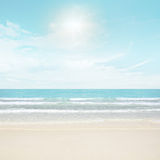Sun and island beach Stock Images