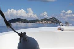 Seychelles paradise island stock photo