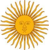 Sun isolado enfrenta Dias ensolarados Foto de Stock Royalty Free