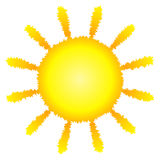 Sun isolated Royalty Free Stock Images