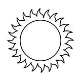 Sun Isolated Icon Design Stock Image