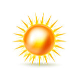 Sun isolated on white background Stock Images