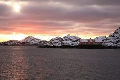 Sun ist zurück in Lofoten Lizenzfreies Stockbild