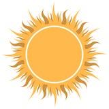 Sun jaune abstrait Image libre de droits
