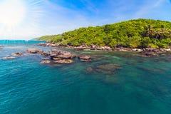 Sun jungle island sea Royalty Free Stock Photography