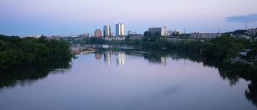 Knoxville Downtown City Skyline Tennessee River Eastern Tennessee royalty free stock image