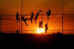 Sun-Kinderspielen Lizenzfreie Stockfotos