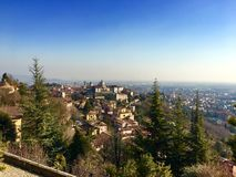 Sun kissed Bergamo stock images