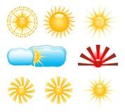 Sun Klippkunst Lizenzfreie Stockbilder